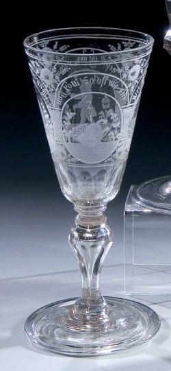 Barock - Erotika Pokalglas. Sachsen, 18.Jh.
