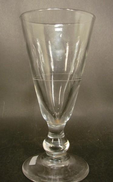 Absinthglas mit Eichstrich. Frankreich, 19.Jh.