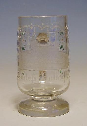 Ansichten-, Bierkrug SCHLOß BALLENSTEDT / Harz, um 1870