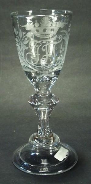 bk214 / Barock - Kelchglas. Hessen, 18.Jh.