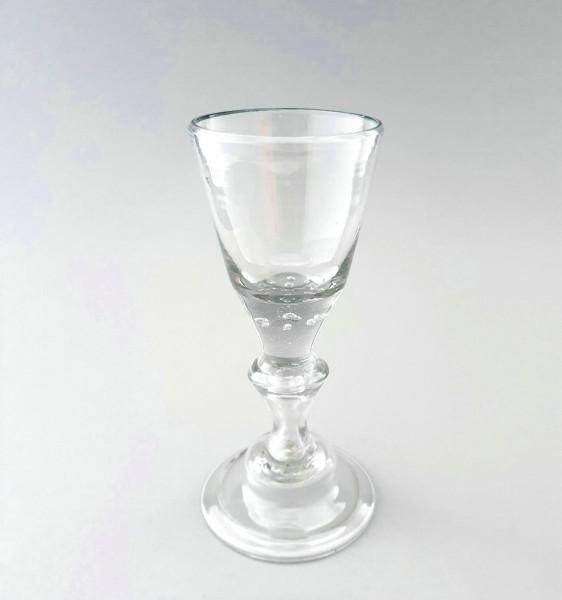 Barock - Pokalglas mit 7 Luftperlen. Mitteldeutschland oder Skandinavien, 18.Jh.