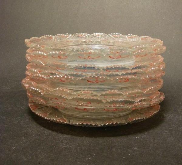 Biedermeier - 8 Glasteller mit schlesischen Ansichten, 19.Jh.