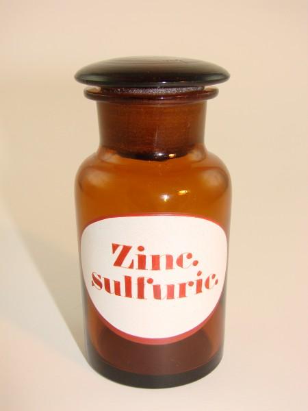 "Apothekenflasche ""Zinc. sulfuric.""."