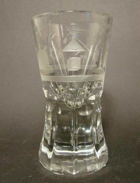 "Freimaurer - Logenglas ""Kanone"", um 1900."