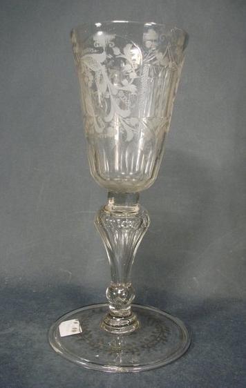 Barock - Pokalglas. Sachsen oder Böhmen, 1. Viertel 18.Jh.