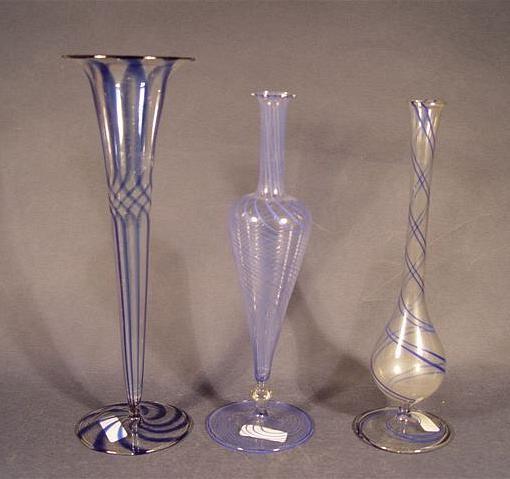 Glasvasen, lampengeblasen. Lauscha / Bimini.