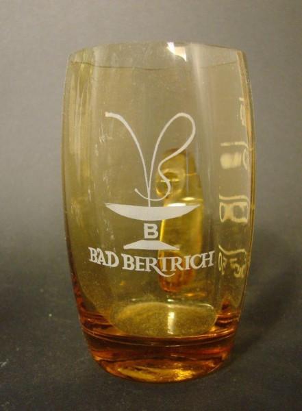 Badeglas / Brunnenglas BAD BERTRICH. Trinkskala.