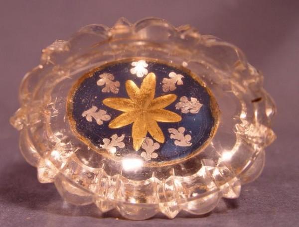 Barock - Zwischengoldglas Gewürzschale, 18.Jh.