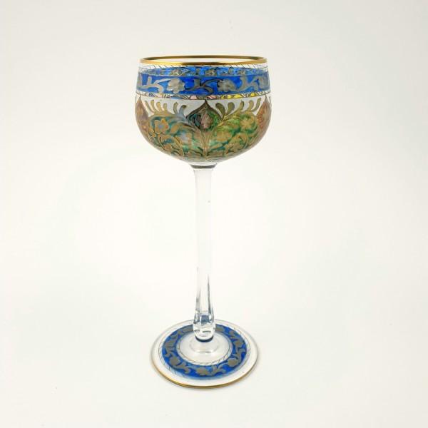 Weinglas / Stängelglas JODPHUR. Heckert, Josephinenhütte, um 1912.