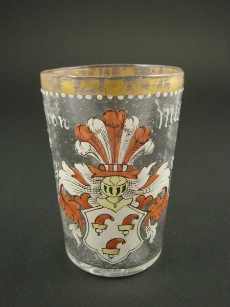 """Wappenglas """"ERNST VON MELTZING 1594"""", Fritz Heckert."""