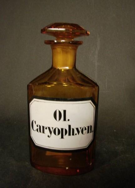 """Apothekenflasche """"Ol.Caryoph.ven"""", 19.Jh."""