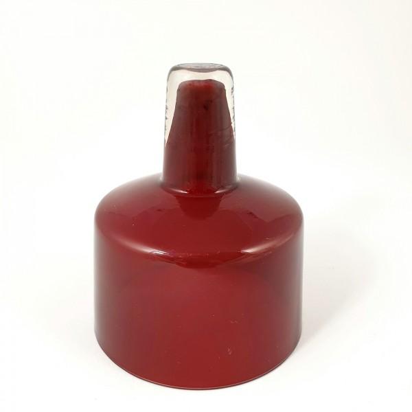 Alte Öllampe - Einsatzglas, rot. 19.Jh.
