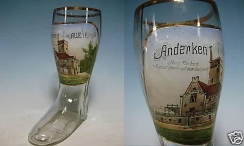 Andenken-, Bierstiefel AUE i. Erzgebirge, um 1910