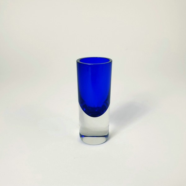Art Deco - Schnapsglas, kobaltblau, um 1925.
