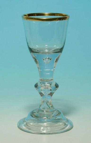 Barock - Kelchglas mit Löwenmarke. Lauenstein, 18.Jh.