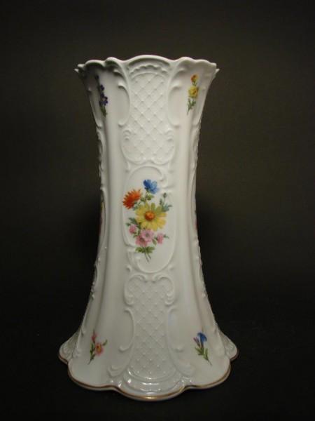 Große Porzellanvase mit Blumendekor, Lindner.
