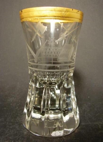 Freimaurer - Logenglas, 19.Jh.