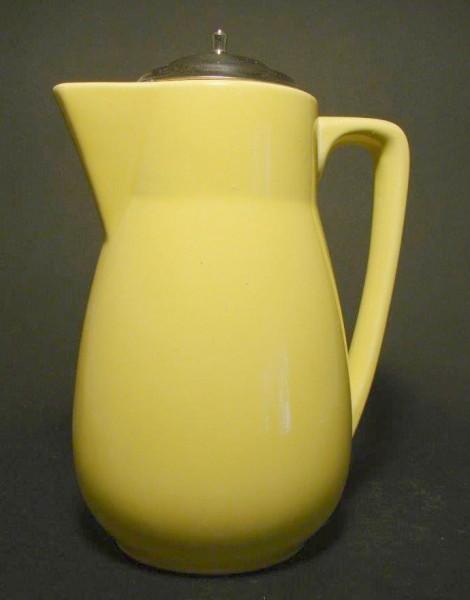Art Deco - Kakaokanne. Keramik mit gelber Glasur.
