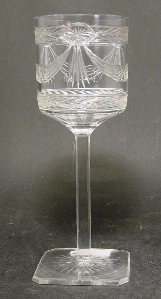 Jugendstil - Weinglas. Deutsch oder Böhmen, um 1910.