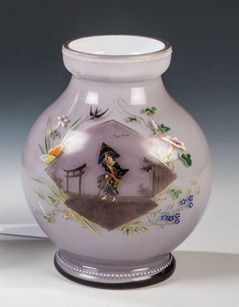 Vase mit Chinoiserie. Böhmen oder Frankreich, 2.H.19.Jh.