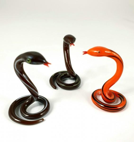 Bimini - 3 Schlangen, lampenbelasenes Glas. Klebeetikett.