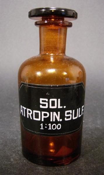 Apothekenflasche SOL. ATROPIN. SULF. 1:100.