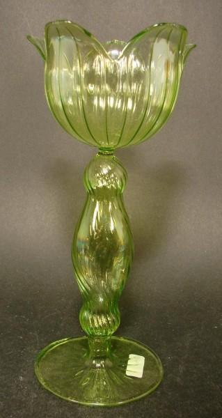 Glasblüte / Zierpokal, lampengeblasen. 2.H. 20.Jh.
