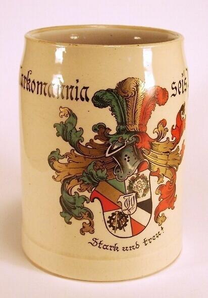 "st70 / Studentika - Bierkrug MARKOMANNIA ""Markomannia sei´s Panier! Stark und treu!"""