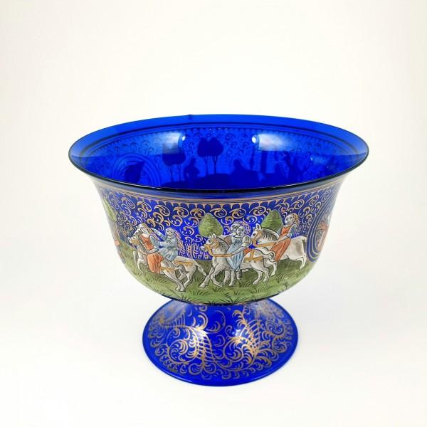 Pokalglas mit Hochzeitszug. Murano, um 1880.