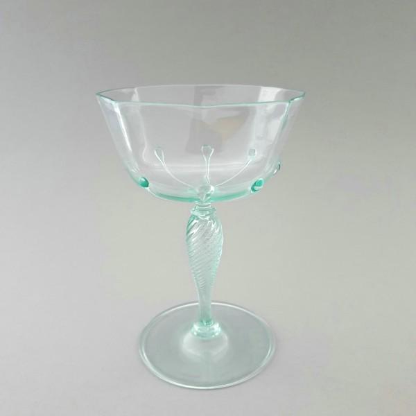 Weinglas / Sektschale. Murano oder Köln-Ehrenfeld, um 1925.