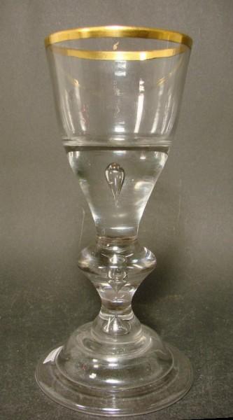 Barock - Pokalglas mit Goldrand. Lauenstein, ca. 1770.