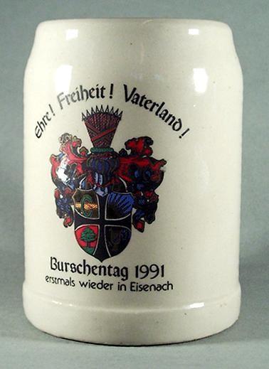 """st54 / Studentika - Bierkrug """"Burschentag 1991"""", Eisenach"""