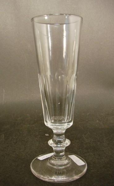 Sektglas, mundgeblasenes Kristall. Frankreich, 19.Jh.