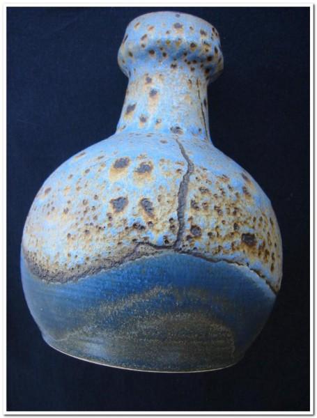Keramik - Vase mit Lavaglasur. Dümler & Breiden, 1960er Jahre.