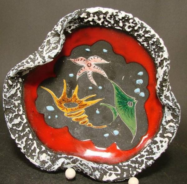 Keramik - Schale. Italien, San Marino 1950er Jahre.