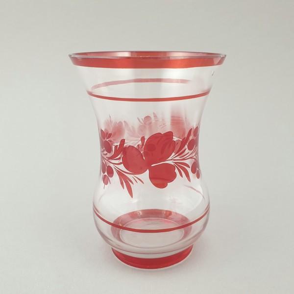 Biedermeier - Becherglas mit floralem Dekor, 19.Jh.