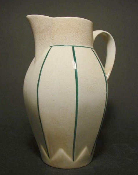 Art Deco - Kakaokanne. Keramik mit Handbemalung.