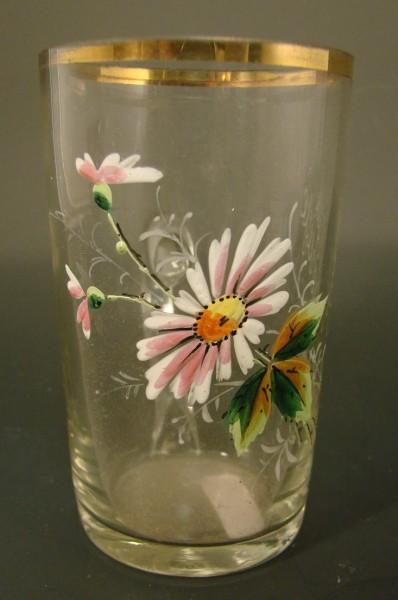 Jugendstil - Brunnenglas BAD ALTHEIDE / Schlesien, um 1910.