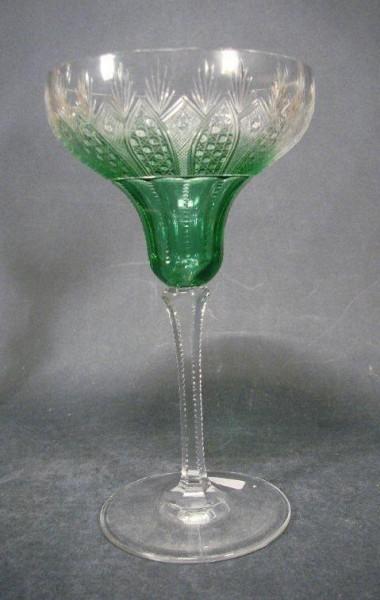 Jugendstil - Überfangrömer / Sektglas, um 1910.