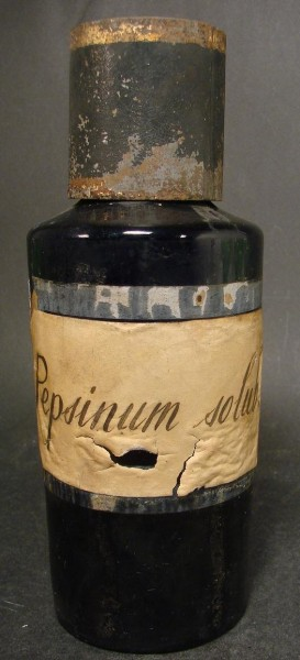 Apothekenflasche Pepsinum solub..Frankreich, 19.Jh.