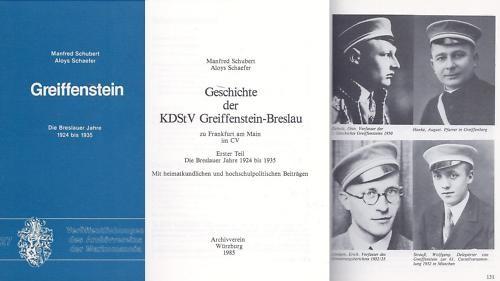 Studentika - Geschichte der KDStV Greiffenstein-Breslau zu Frankfurt am Main. MARKOMMANIA