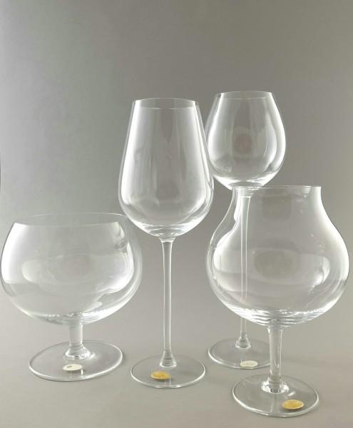 4 Design Gourmet-Gläser Wein / Cognac. Moser, Karlsbad.