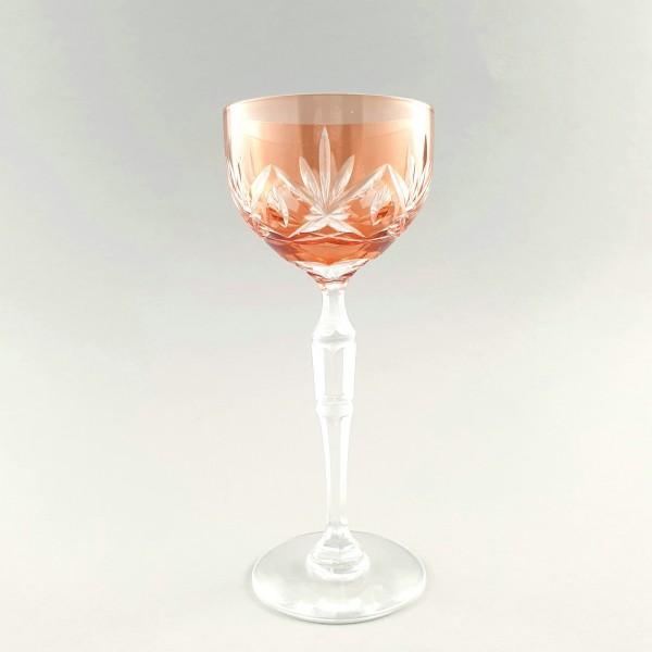Römer / Weinglas mit Überfang, 1920er Jahre.