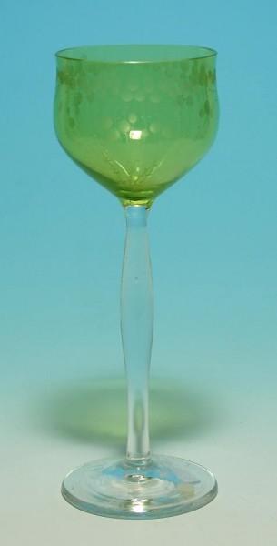Jugendstil - Weinglas. Entwurf Carl Lederle, 1901.