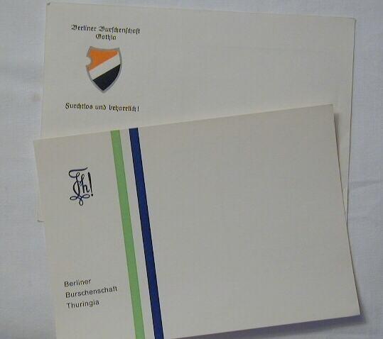 Studentika - Postkarte BERLIN GOTHA + THURINGIA