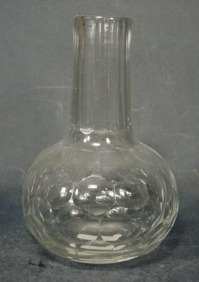 f6046 / Barock - Flasche mit geschliffenem Kropus, 18.Jh.