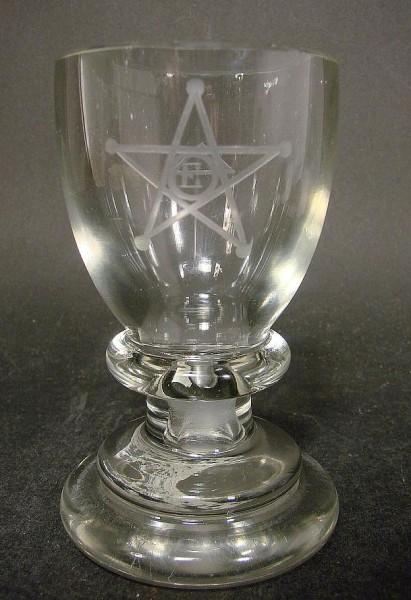 "Freimaurer - Logenglas ""Kanone"", 19.Jh."
