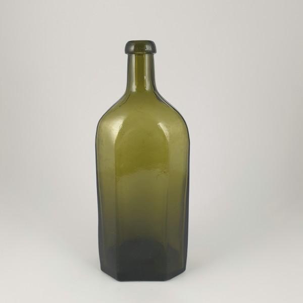 Flasche, olivgrün. 19.Jh.