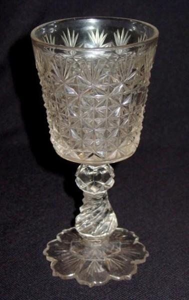 Biedermeier - Pokalglas, 19.Jh.