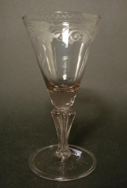 Barock - Pokalglas, schnittdekoriert. Thüringen, 18.Jh.